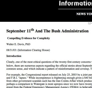 September 11th and The Bush Administration