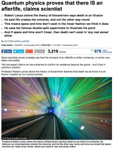 Quantum physics proves that there IS an afterlife, claims scientist | Mail Online